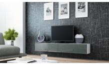 TV stolek VIGO RTV 180  bílý mat/šedý lesk