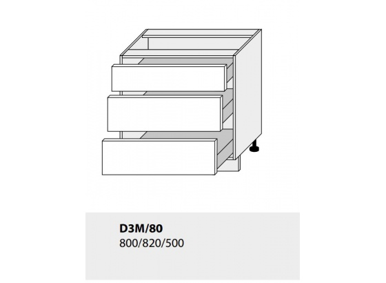 Dolní skříňka kuchyně TITANIUM D3M 80 lava