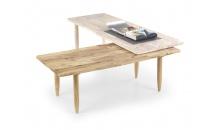 Konferenční stolek BORA BORA white wash/přírodní