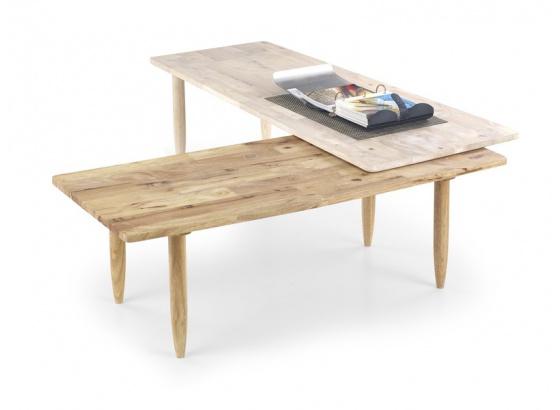 Konferenční stolek BORA BORA white wash / přírodní