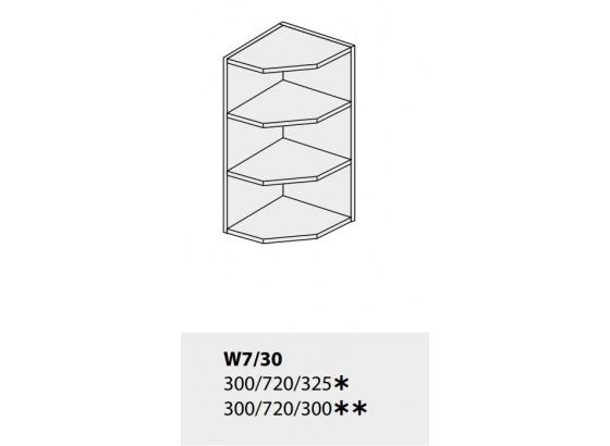 Horní skříňka kuchyně TITANIUM W7 30 rohová grey