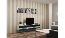 TV stolek VIGO NEW RTV 180 bílý mat/černý lesk