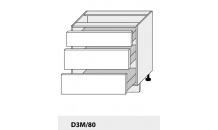 Dolní skříňka PLATINIUM D3M/80 jersey