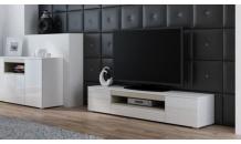 Televizní stolek VIVA RTV bílý mat/bílý lesk/dub sonoma
