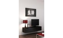 TV stolek VIGO RTV 140 černý mat/černý lesk