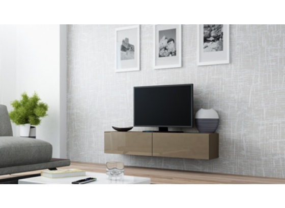 TV stolek VIGO RTV 140 latte mat/latte lesk