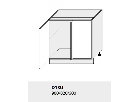Dolní skříňka PLATINIUM D13U grey