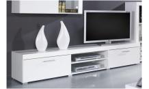 TV stolek SAMBA bílá/bílý lesk