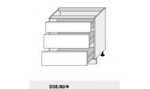 Dolní skříňka PLATINIUM D3E/80 bílá