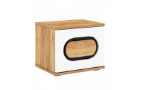 Noční stolek RODAN 1S dub craft zlatý/bílá