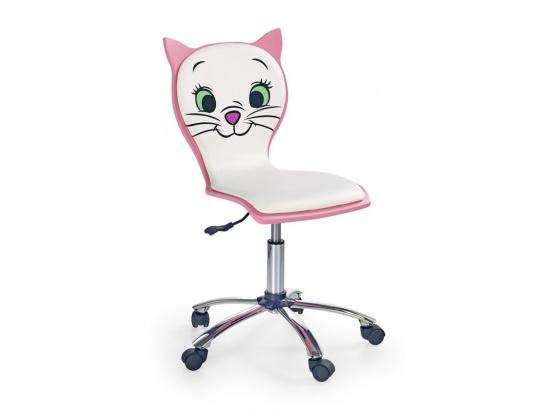 Dětská židle KITTY 2 bílo/růžová