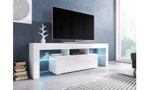 TV stolek TORO 138 RTV bílý mat/bílý lesk/bílý lesk