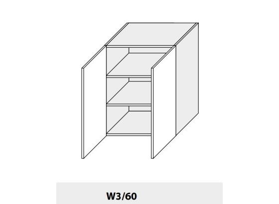 Horní skříňka PLATINIUM W3/60 grey