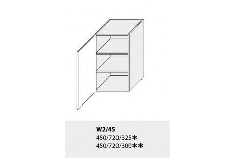 Horní skříňka kuchyně TITANIUM W2 45 jersey