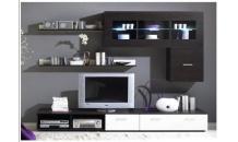 Obývací stěna LOGO I wenge mat/bílý lesk