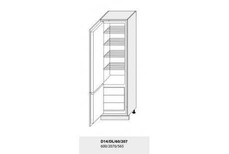 Dolní skříňka kuchyně GOLD LUX 14DL 60 vestavba na lednici
