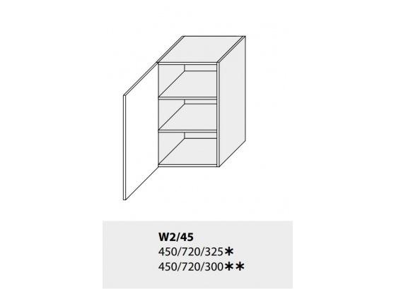 Horní skříňka kuchyně TITANIUM W2 45 grey