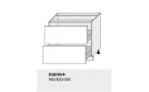 Dolní skříňka kuchyně TITANIUM D2E 90 grey