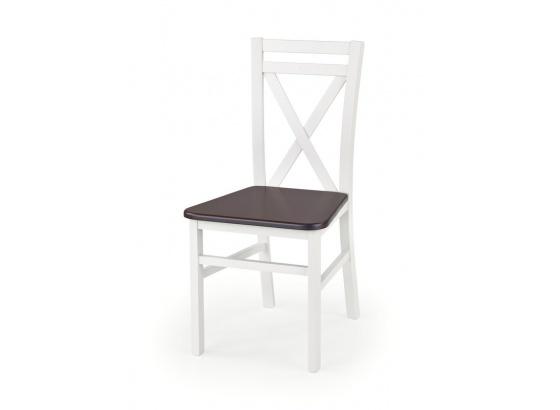 Jídelní židle DARIUSZ 2 bílá/ořech tmavý