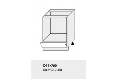 Dolní skříňka kuchyně TITANIUM D11K 60 vestavba pro troubu/grey
