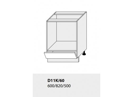 Dolní skříňka kuchyně TITANIUM D11K 60 vestavba pro troubu grey