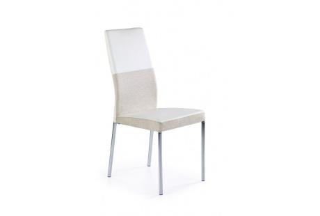 Jídelní židle K-171 béžovo-bílá