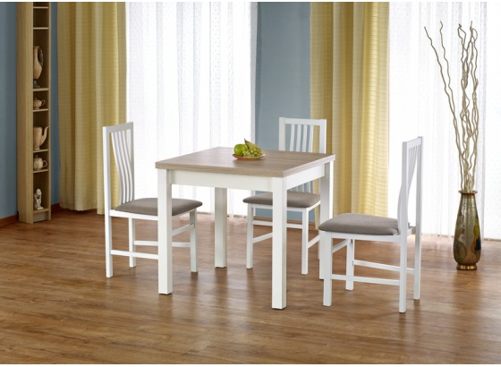 Jídelní stůl GRACJAN dub sonoma/bílý