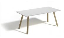 Konferenční stolek ALAN 120 bílý lesk