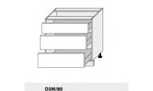 Dolní skříňka PLATINIUM D3M/80 grey