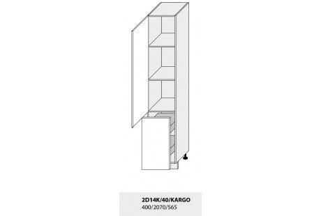 Dolní skříňka kuchyně Quantum 2D14K 40 + Cargo/jersey