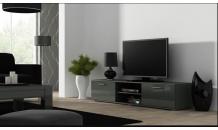 TV stolek SOHO 180 S 3 šedý mat/šedý lesk