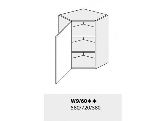 Horní skříňka kuchyně TITANIUM W9 60 rohová jersey