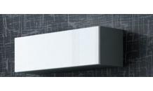Vitrína VIGO 90 šedý mat/bílý lesk