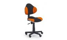 Dětská židle FLASH oranžová/černá