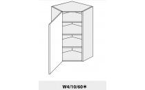 Horní skříňka PLATINIUM W4 10/60 rohová grey