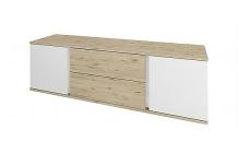 TV stolek LAURA 2D2S/150 dub wellington/bílá