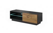 Televizní stolek LIVO RTV 120S antracit / dub votan
