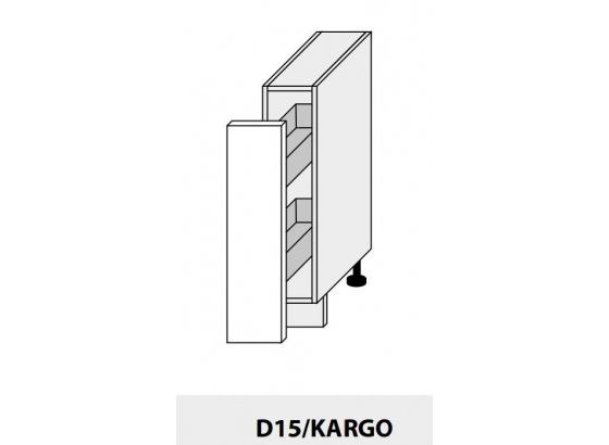 Dolní skříňka kuchyně TITANIUM D15 + cargo bílá