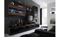 Obývací stěna LOGO II švestka mat/černý lesk