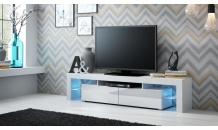 TV stolek SOLO RTV bílý mat/bílý lesk