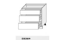 Dolní skříňka PLATINIUM D3E 80 grey