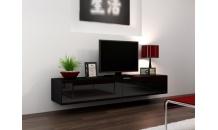TV stolek VIGO RTV 180 černý mat/černý lesk