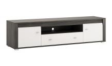 TV stolek SEVILLA typ 51 norská borovice černá/bílý lesk