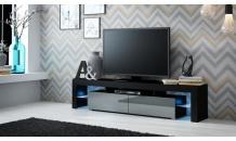 TV stolek SOLO RTV černý mat/šedý lesk