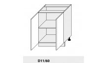 Dolní skříňka kuchyně Quantum D11 60/grey