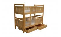 Patrová postel WERONA II 90x200 včetně matrace a úložného prostoru