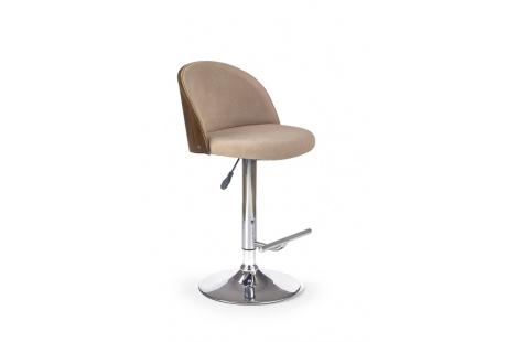 Barová židle H-67 béžový-ořech