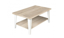 Konferenční stolek FLEXI 110 dub sonoma/bílá