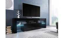 TV stolek TORO 138 RTV černý mat/černý lesk/černý lesk