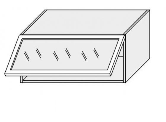 Horní skříňka kuchyně TITANIUM W4BS 80 MDF grey